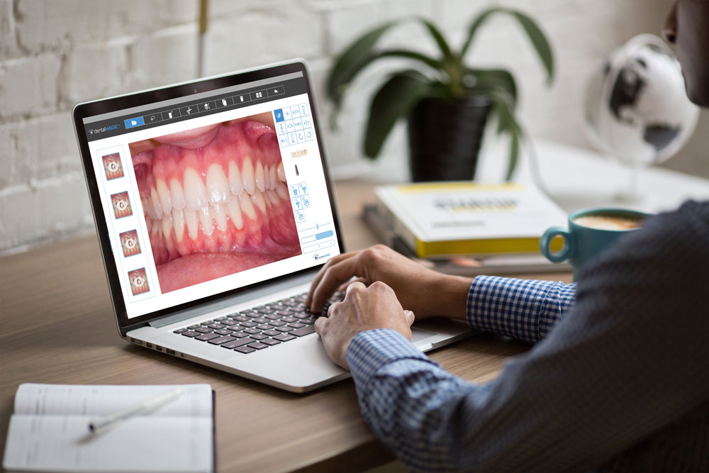 dental master software on laptop screen