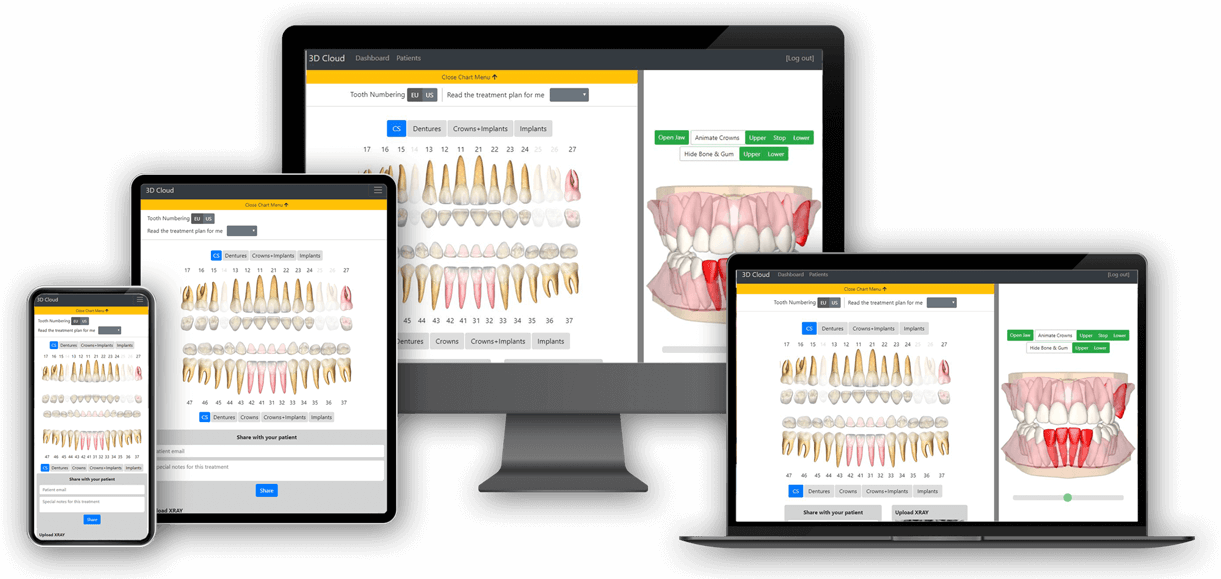 DentalMaster cloud on different devices