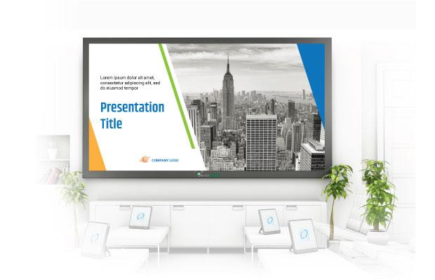 waiting room customised presentation on screen