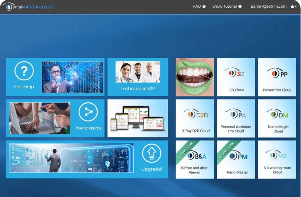DentalMaster cloud dashboard